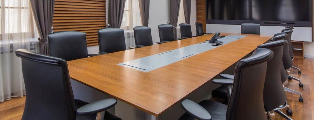 board room following golf club risk management meeting