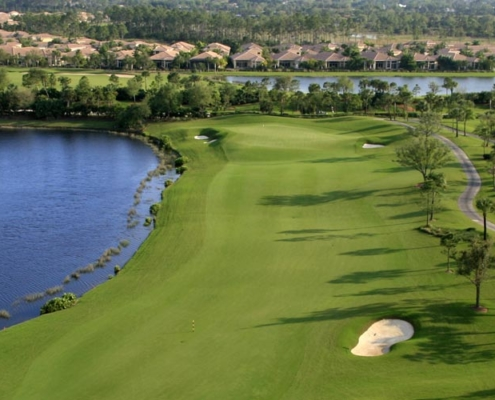 aerial view of golf community operational gains of $2.5M