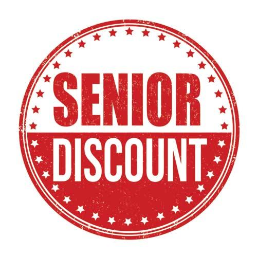 senior discount emblem